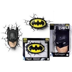 Batman Mascara Lampara Decorativa 3d - Led Original DC - tienda online