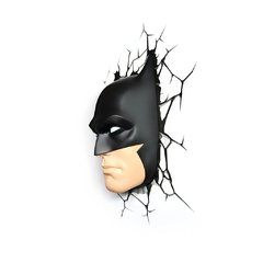 Batman Mascara Lampara Decorativa 3d - Led Original DC - Jethro Decoracion