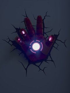 Iron Man Mano Lampara Decorativa 3d - Led De Pared Original - comprar online