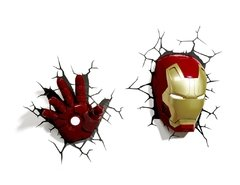 Iron Man Mano Lampara Decorativa 3d - Led De Pared Original - Jethro Decoracion