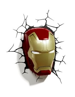 Iron Man Lampara Decorativa de Pared 3D - Led - Original