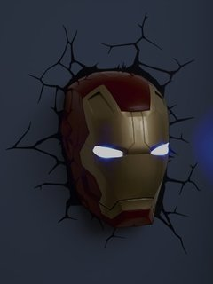 Iron Man Lampara Decorativa de Pared 3D - Led - Original - comprar online