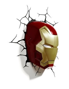 Iron Man Lampara Decorativa de Pared 3D - Led - Original en internet