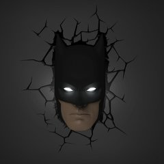 Batman Mascara Lampara Decorativa 3d - Led Original DC - comprar online