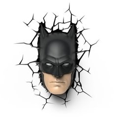 Batman Mascara Lampara Decorativa 3d - Led Original DC