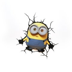 Minions Bob Lampara Decorativa 3d - Led De Pared Original