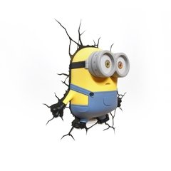 Minions Bob Lampara Decorativa 3d - Led De Pared Original - Jethro Decoracion