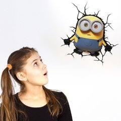 Minions Bob Lampara Decorativa 3d - Led De Pared Original - tienda online