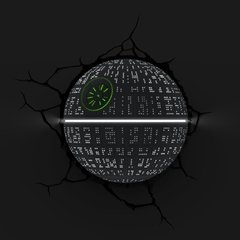 Death Star -Star Wars Lampara Decorativa 3d - Led Original - comprar online