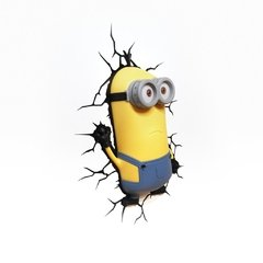 Minions Kevin Lampara Decorativa 3d - Led De Pared Original - Jethro Decoracion