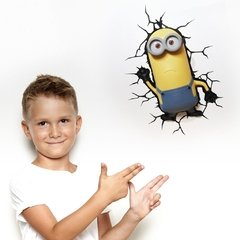Minions Kevin Lampara Decorativa 3d - Led De Pared Original - comprar online
