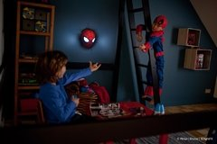 Spiderman Mascara Lampara Decorativa 3d - Led Original - Jethro Decoracion