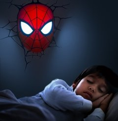 Spiderman Mascara Lampara Decorativa 3d - Led Original - tienda online