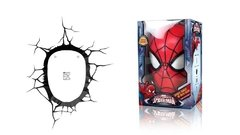Imagen de Spiderman Mascara Lampara Decorativa 3d - Led Original