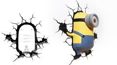Minions Stuart Lampara Decorativa 3d - Led De Pared Original - Jethro Decoracion