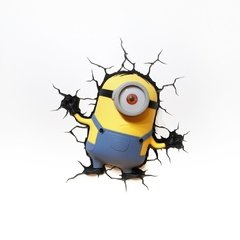 Minions Stuart Lampara Decorativa 3d - Led De Pared Original