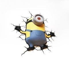 Minions Stuart Lampara Decorativa 3d - Led De Pared Original - comprar online