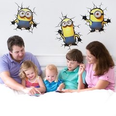 Minions Stuart Lampara Decorativa 3d - Led De Pared Original - tienda online