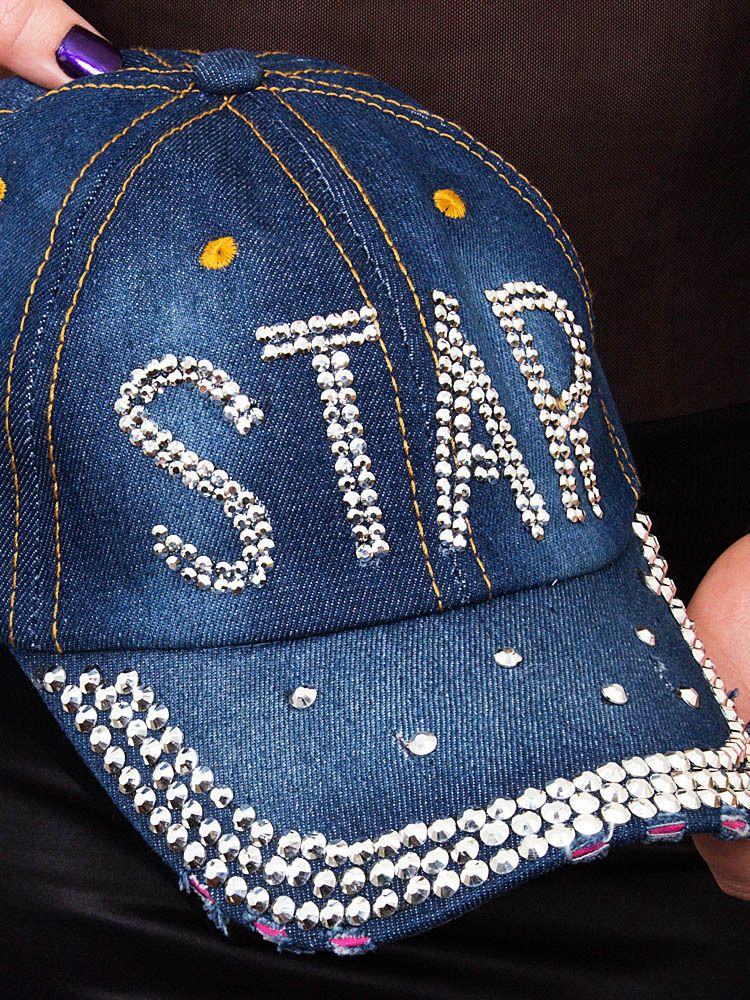 Boné Jeans com Strass - 21746 8f64efc0b72