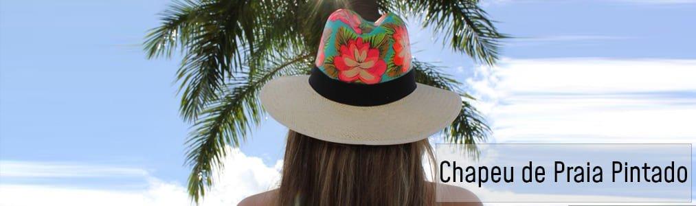 49f9c1487a5d Chapéu de Praia Pintado I Chapéus 25