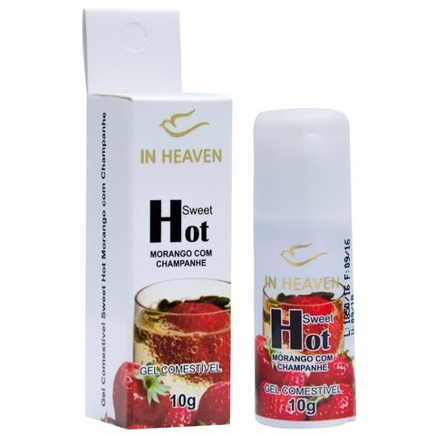 gel comestivel hot morango