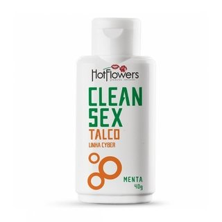 TALCO CLEAN SEX -LINHA CYBER- 40G - HOT FLOWERS