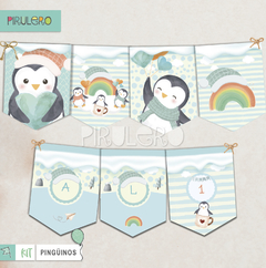 Kit imprimible Pinguinos - Winter Wonderland