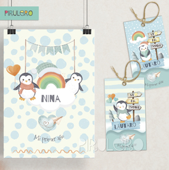 Kit imprimible Pinguinos - Winter Wonderland en internet