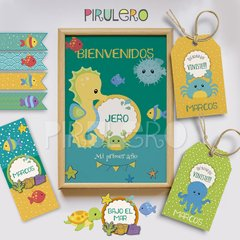 Kit Imprimible Animalitos De Mar - Kit De Verano Playero
