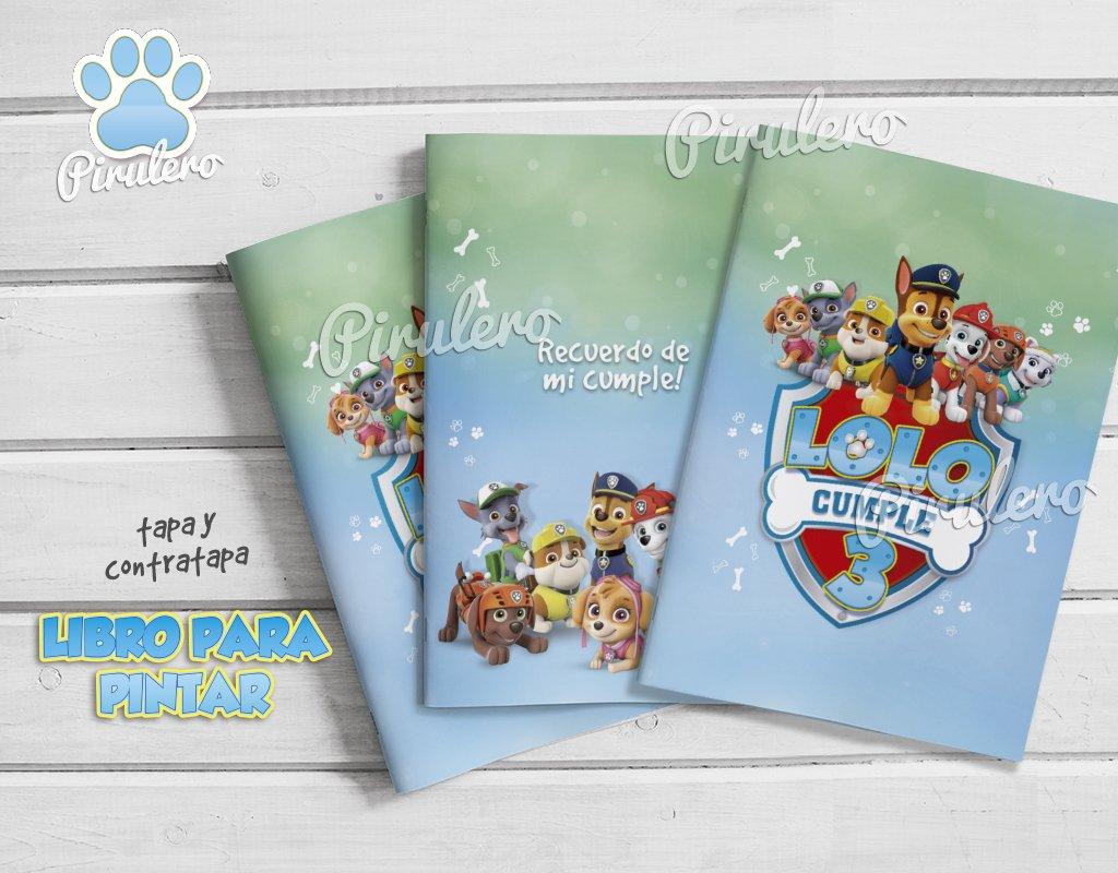 Librito Para Imprimir Y Colorear Patrulla Canina Paw Patrol