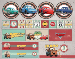 Kit imprimible Cars - Radiator Springs en internet