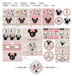Kit Imprimible Minnie Shabby Chic Rosa - tienda online
