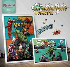 Kit Imprimible Super Heroes Avengers