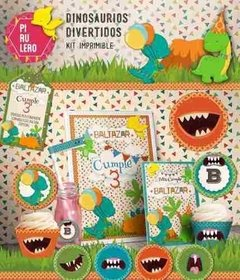 Kit Imprimible Mini Dinosaurios