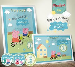 Peppa y George Pig Kit Imprimible - Pirulero