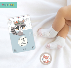 Baby Cards Pack imprimirble animalitos del bosque tribal - Pirulero