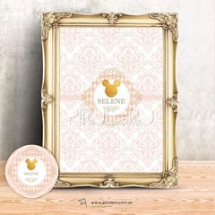 Kit Imprimible Minnie Dorada vintage - comprar online