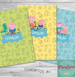 Kit Imprimible Peppa y George Pig