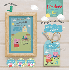 Peppa y George Pig Kit Imprimible