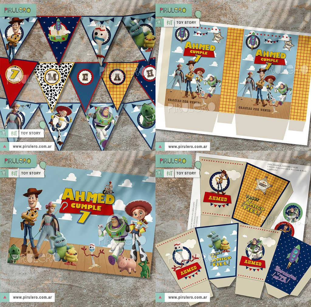 Toy Story 4 Kit Imprimible Completo