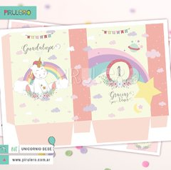 Unicornio y arcoiris Kit imprimible