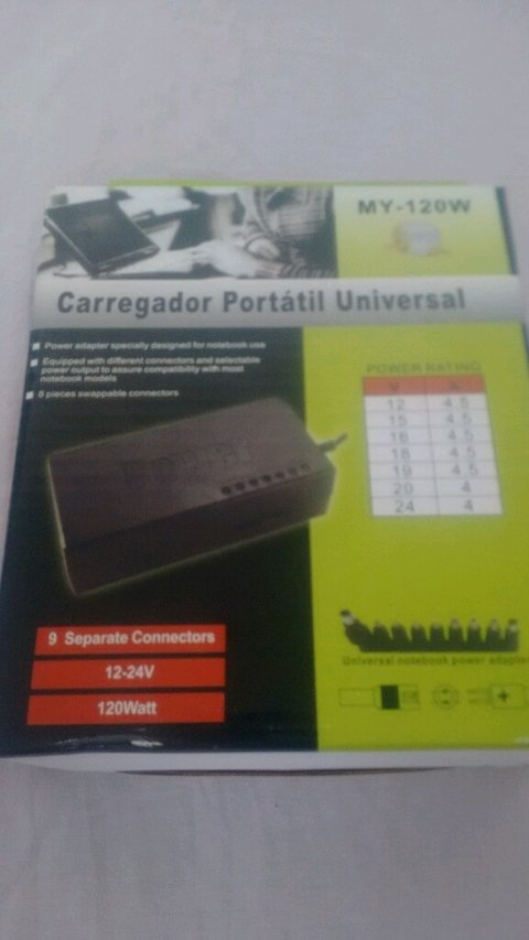 Carregador Universal Para Notebook My-120w