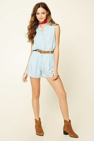 Mono short denim Forever 21
