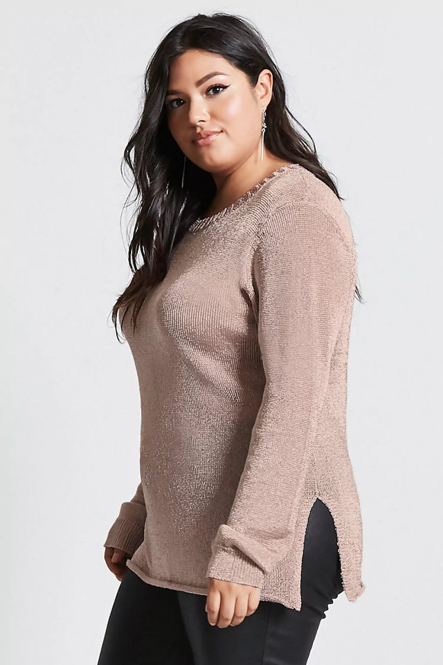 Sweater metálico talles grandes especiales Forever 21