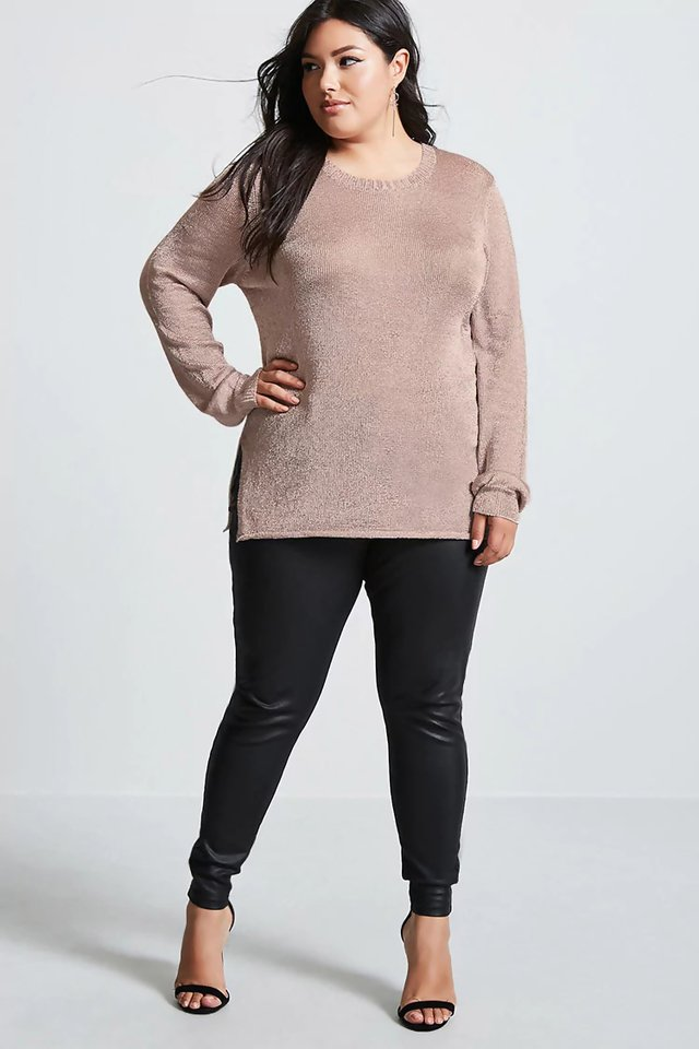 Sweater metálico talles grandes especiales Forever 21 - Majas