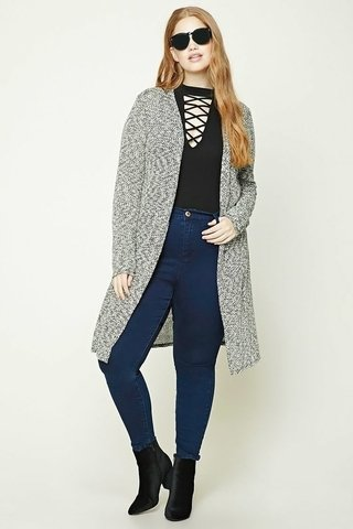 Cardigan largo Plus Size Forever 21
