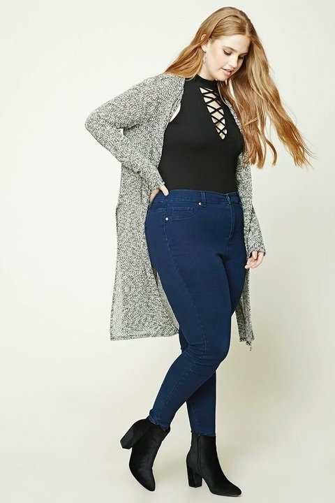 Cardigan largo Plus Size Forever 21 en internet