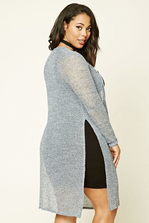 Cardigan a media pierna Plus Size - FOREVER 21 - - Majas