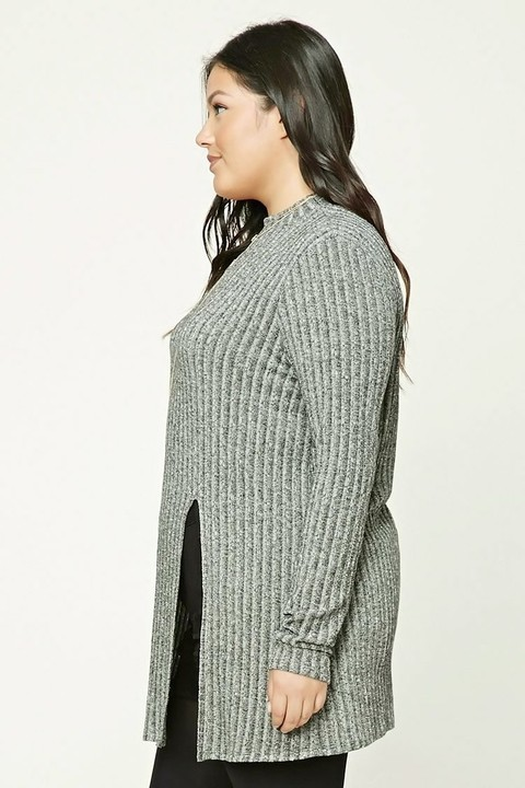 Sweater largo FOREVER 21- Talles amplios - en internet