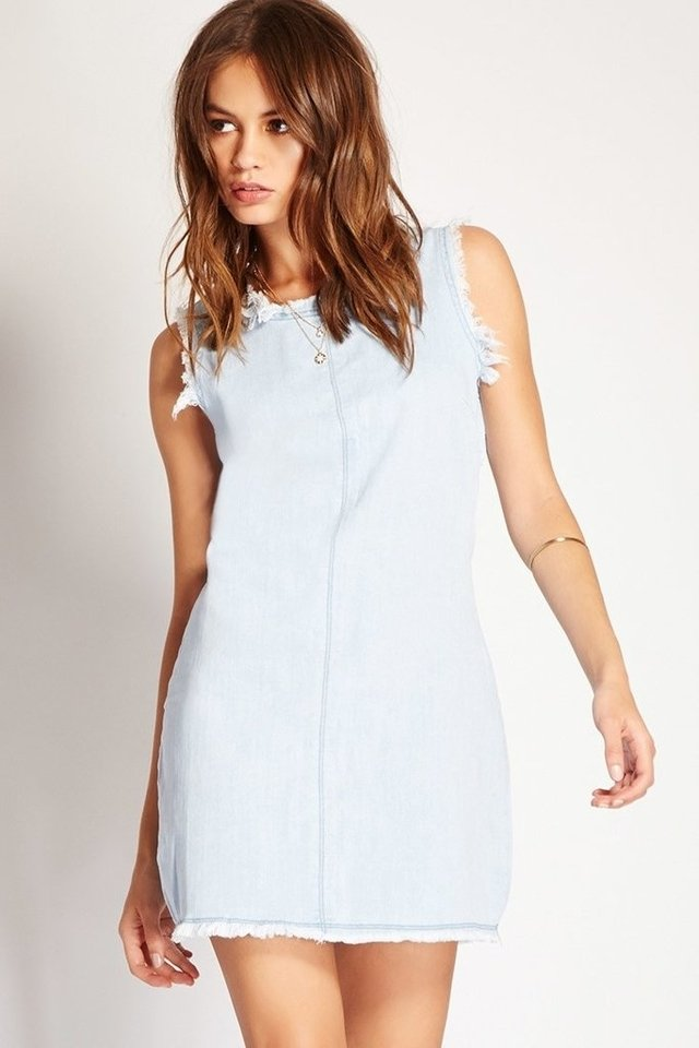 Vestido mini de denim Forever 21